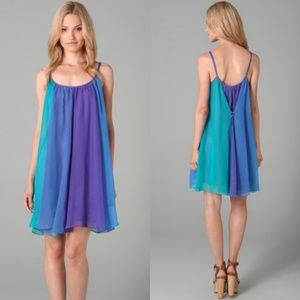 Free People Parachute Trapeze Dress in Jewel Tones